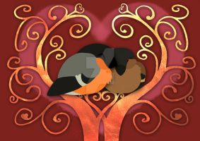 Valentine Bullfinches by Wild-Side-Creations