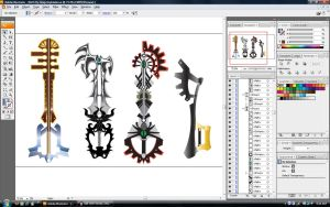 BBS Keyblade Illustration Desk by GunZcon