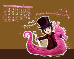Wonka January Calendar Wallpaper by amoykid