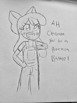 Trainer Apple Bloom challenges you. by ProjectFireLights