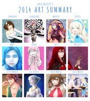 2014 Art Summary by lacelazier