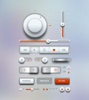 Light Music UI Design Kit (PSD) by softarea
