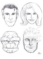 CAA: Fantastic Four by MichaelPowellArt