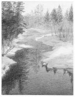 Landscape Drawing by Guernic