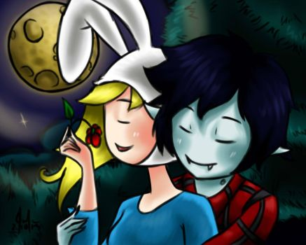 Fionna and Marshall lee - love by KevinWerty