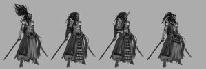 ronin character design by jeffchendesigns