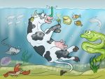 Cow in an Aquarium by Leafyful