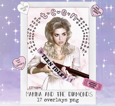 Marina And The Diamonds - pack overlays png by effyoung