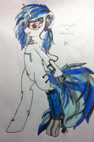Augmented Vinyl Scratch Drawing by EnteringTheNethery