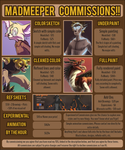 June 2016 Commission Info by MadMeeper