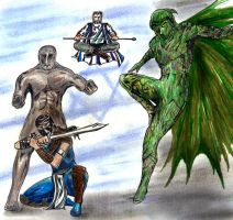 Ragman and The Hayoth team up fan art by csuhsux
