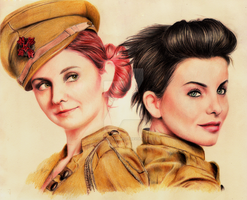 Julia Volkova and Lena Katina by volchonokgabrielle