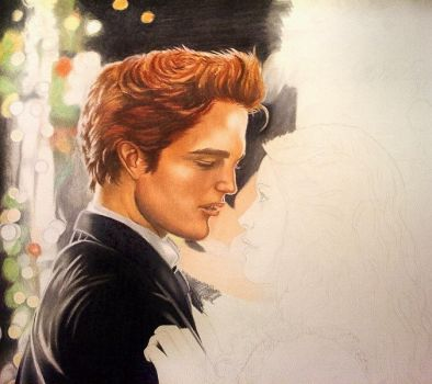 Edward and Bella at Prom WIP by riansart