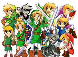 The Legends of Zelda by Messengerrobo
