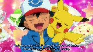Ash and Pikachu thinking 'They're hungry!' by ryanthescooterguy