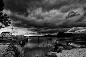 Thunderstorm at the lake by Haufschild