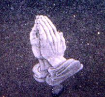 Praying Hands Etching by ckatt01