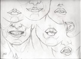 Lips Sketch Studies by JophielS
