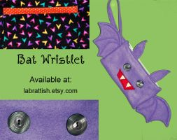 A Batty Wristlet by labrattish
