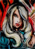 BabyDoll Sketch Card by BiancaThompson