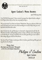 S.H.I.E.L.D New Division - Coulson's Memo by TheQueenofLight