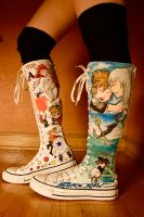 KH boots: soraXriku side by GemDragon421