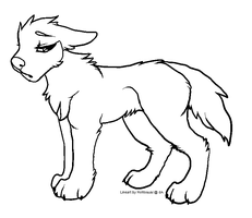 Sad Canine Lineart by Hohtis