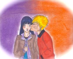 NaruHina- Only a kiss by Yuzuky