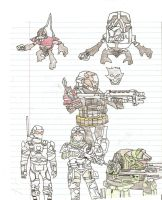 Halo Reach Drawings by King-of-Darkness50