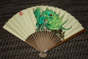 Emerald Dragon Fan by SarurunKamui