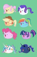 My Little Pony - charms by Atomic-DNA