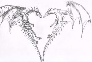 Coeur de dragons by black-Khisanth