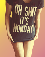 It's monday! by SlenderGirlPro
