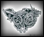 Celtic Dragon by H3LLB0uND