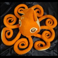 Orange Squid Plush 1 c by TheCurseofRainbow