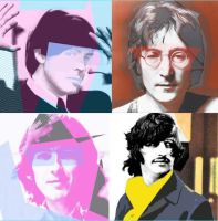 Beatles In Pop Art Form by uptowngirl587