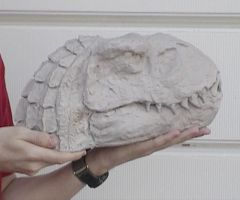 Vastatosaurus Rex Clay Head by Shonenleap