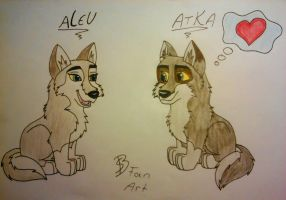 ~My draw~//Atka and Aleu by LanceCheetah