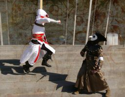 Ezio and Malfatto by MudgetMakes