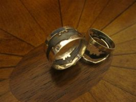 Batman Three-Piece 'Puzzle' Ring, Sterling Silver by Silverthink