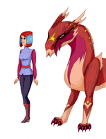 Wendy and Diablo coloured by Shearkin