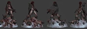 Red Sonja sculpt (zbrush screen) by OmrZrn