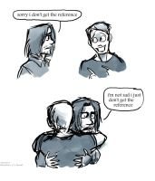 Bucky Gets a Hug by Tavoriel
