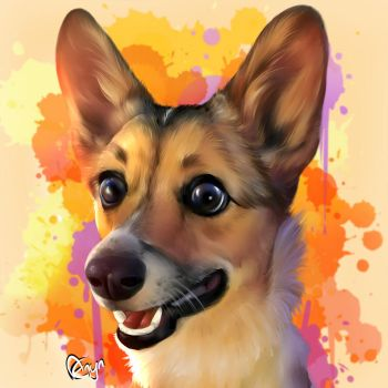 Cosmo the corgi by Mythicalpalette