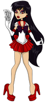 Necrocon Sailor Mars: Ebony by chunk07x