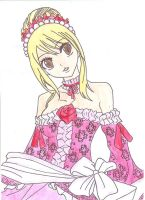 Lucy Heartfilia, done in water colors. by narutofanforever123