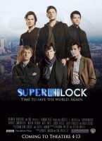 SuperWhoLock Movie Poster by HelloISay