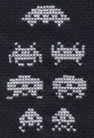 Space Invaders cross stitch by Lil-Samuu