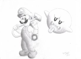 Luigi and Boo by Dragonlady333