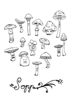 Shrooms by Quakeulf2